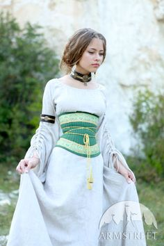 "Medieval Flax Corset Belt ""Mistress Of The Hills"""