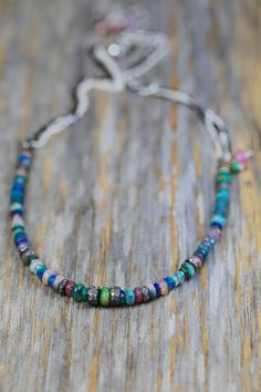 A personal favorite from my Etsy shop https://www.etsy.com/listing/272892526/ethiopian-black-opal-necklace-pave