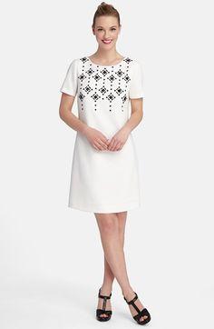 Tahari Embellished Shift Dress (Regular & Petite) available at #Nordstrom