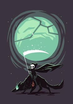 Little Reaper - A gallery-quality illustration art print by Indré Bankauskaité for sale.
