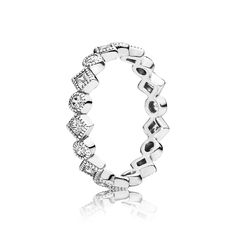 Alluring Brilliant Princess Ring - Sterling Silver with Clear CZ - PANDORA - 190943CZ