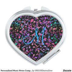 Personalized #Music Notes Compact Mirror  #zazzle