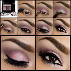 pink smoky eyes