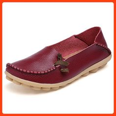 5334eb218d9 2016 Genuine Leather Women Flats Shoe Fashion Casual Slip On Soft Loafers  Spring Autumn Moccasins Female. Click visit to buy