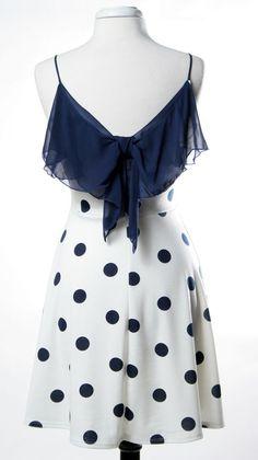 Bow Back Dot Dress