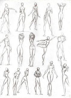 Figure Drawing Poses Poses Mujer by CeciiLottersberger on DeviantArt - Drawing Body Poses, Human Anatomy Drawing, Gesture Drawing, Drawing Base, Drawing Tips, Drawing Female Body, Face Anatomy, Figure Sketching, Figure Drawing Reference