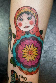 matryoshka tattoos are so sweet.