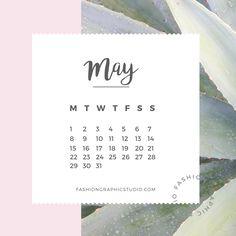 May calendar 2017 wallpaper
