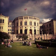 The Norwegian Parliament, Stortinget Holidays In Norway, Norway Design, Norway Viking, Beautiful Norway, Visit Norway, Cool Countries, Us Travel, Denmark, Places Ive Been