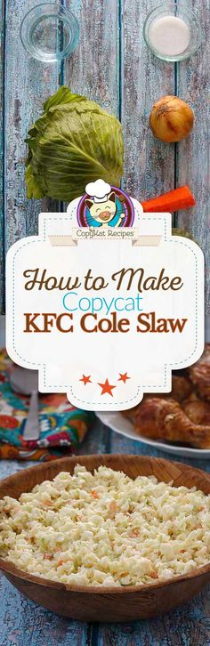 Learn how to make KFC Cole Slaw from scratch, it's so easy to do.