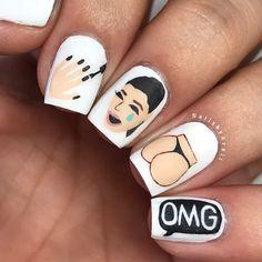 Kimoji Nails🍑#NailArt #NailsbyAreli #KimojiNails #Kimoji #KimKardashianNails #KimKardashian #NailPolishAddict #MatteNails #Matte @kimoji