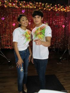 """This is the handsome James Reid and the lovely Nadine Lustre smiling for the camera during the recording of the ABS-CBN 2015 Christmas Station ID theme song, """"Thank You for the Love!"""" at the ABS-CBN Recording Studio at the ABS-CBN Compound last October 19, 2015. Indeed, JaDine is another of my favourite Kapamilya love teams. #JamesReid #NadineLustre #JaDine #ABSCBNChristmasStationID #ThankYoufortheLove"""
