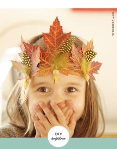 Nature findings; DIY a Autumn Leaves Tiara/ Crown.
