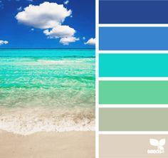 blue sea color palette idea