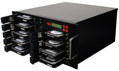 SySTOR 1:8 SATA Hard Disk Drive / Solid State Drive (HDD/SSD) Rackmount Clone Duplicator/Sanitizer - High Speed (150mb/sec) (SYS208RMHDD)