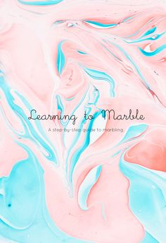 A Step-by-step guide to Marbling Howdy all! We've been seeing marbled things everywhere and of course we had to try it out for ourselves.. but before we could go on to making magical marbled creations, we thought we'd show you...