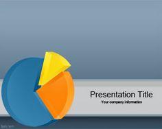 Plantilla Powerpoint con gráfico 3D es un diseño de PowerPoint con gráfico 3D de torta ideal para usar en presentaciones de PowerPoint de negocios