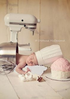 Just came across this! Soo cute! Reminds me of my little one falling asleep in her high chair when I bake! Lol