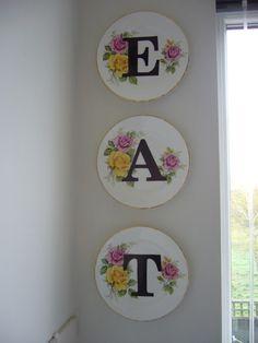 Vintage decorative plates DIY tutorial