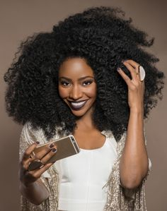 "accras: "" Teyonah Parris Talks Natural Hair Journey & Beauty Must-Haves in…"