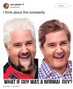 Guy fieri and Guy sedan Haha Funny, Hilarious, Lol, Funny Stuff, Funny Things, Stupid Stuff, Awesome Stuff, Funny Shit, Random Things