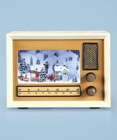 Another great find on #zulily! Winter Scene Radio Light-Up Musical Figurine by Roman #zulilyfinds