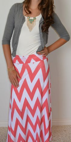 Chevron Is The New Black Maxi Skirt is back in stock with all the hottest colors! http://www.sexymodest.com/products/chevron-is-the-new-black-maxi-skirt @modestshoppin