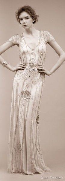 beaded 1920s style dress