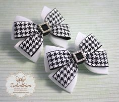 Items similar to School uniform hair bow Black White bows Toddler hair bow First day of school Preschool bows Back to School Outfit Girls hair bow School bow on Etsy Making Hair Bows, Diy Hair Bows, Ribbon Hair, Ribbon Bows, Ribbon Flower, Fabric Flowers, Ribbons, Princess Hair Bows, Hair Bow Tutorial