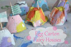 Egg Carton Fairy Houses ~ Creative Family Fun