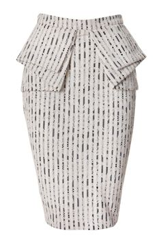 Sheike LACE PEPLUM SKIRT could work well in black& white stripe fabric