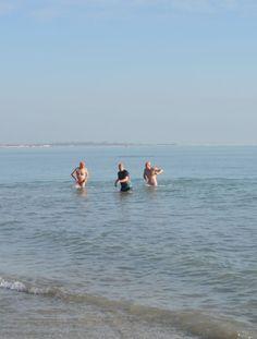 #VeniceLido #beach (01.01.16) - winter swimmers