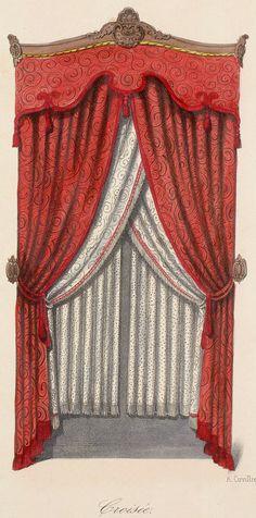 Victorian Curtains, Victorian Windows, Victorian Decor, Small Curtains, Drapes Curtains, Victorian Window Treatments, Curtain Drawing, Art Design, Interior Design