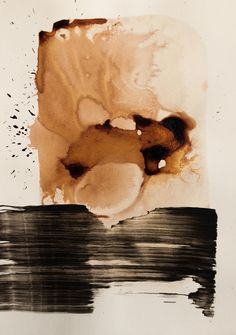 Original Fine Art Abstract Ink Drawing  world   black by ComArt