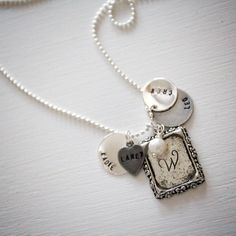SIlver Layered Charm Personalized Necklace by thesilverloft, $23.99