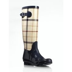 Talbots Winnie Tattersall Plaid Rubber Rain Boots