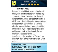 Reviews	 I'm glad I took a second opinion I initially had a different attorney handle my...