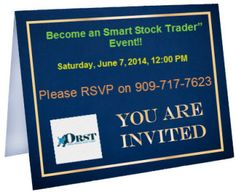 Saturday, June 7, 2014, 12:00 PM:  Camden and Main 2801 Main St Irvine California 92614 United States  Power of Robotic trading System + Minimum Risk = $$Trading Profit$$  Let's meet up this Saturday at 12:00 pm (Pacific Time) and share robotic trading opportunities and get to know each other.   Reserve Your Seat Today! Call Al @ 909-717-7623 and get in touch with him.