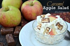 Caramel Apple Salad, Awesome dessert recipe to use fresh apples - crazy!  Just crazy enough it might work ;)