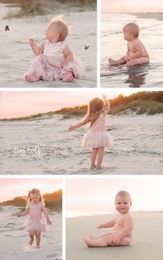 Sisters playing on the beach at sunset Akron Child Photographer Toddler Beach Photos, Sibling Beach Pictures, Beautiful Beach Pictures, Beach Kids, Beautiful Beaches, Family Photos With Baby, Beach Family Photos, Family Pictures, Baby Pictures