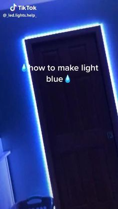 Light Blue 💧 - Best Picture For diy clothes For Your Taste You are looking for something, and it is going to tel - Led Room Lighting, Room Lights, Strip Lighting, Lighting Ideas, Led Light Strips, Led Strip, Cute Room Decor, Led Diy, Aesthetic Room Decor