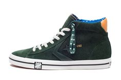 Forest green suede - Undefeated / Converse MashUp.