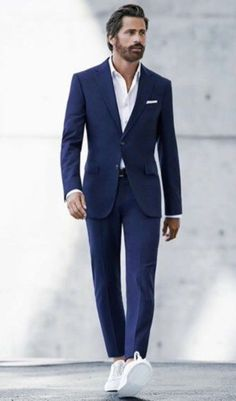 Suit with sneakers casual men style (6)