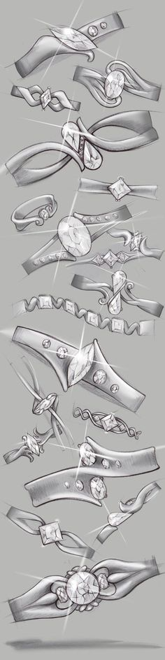 46 Ideas for jewerly drawing design ring sketch Sea Glass Jewelry, Wire Jewelry, Bridal Jewelry, China Jewelry, Jewelry Case, Etsy Jewelry, Jewelry Shop, Ring Sketch, Jewelry Design Drawing