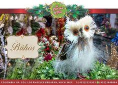 Hermoso búhos para decorar en Navidad!!#lamerceriademia #silkplants #floresartificiales #navidad #navidad2016 #home #buho #nacimiento #nochebuena #interiordesign #pinosnavideños  #invierno #inspiration #inspiración #christmas #uruapan #michoacan #mexico #mexicomanualidades #morelia  #decoración #piedearbol #centrodemesa #xmas #merrychristmas #regalosdenavidad #christmasideas #decoracionnavideña #christmasdecorating