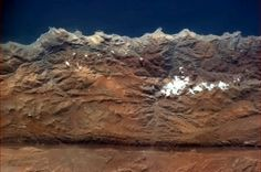 Some fault lines are visible from space. Tectonic plates make a rift in the Andes.