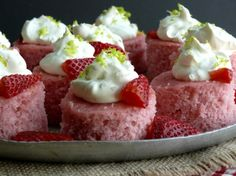 Strawberry Margarita Cake Bites