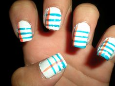 Lined Paper Nails