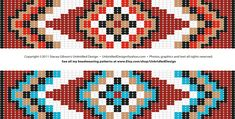 FREE loom/square stitch graph! Find all of my beadweaving patterns in my Etsy shop at www.Etsy.com/shop/UnbridledDesign