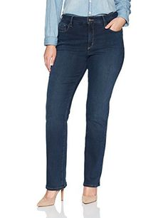 New Trending Denim: NYDJ Womens Plus Size Marilyn Straight Leg Jeans in Future Fit Denim, Rome, 16W. NYDJ Women's Plus Size Marilyn Straight Leg Jeans in Future Fit Denim, Rome, 16W  Special Offer: $144.00  488 Reviews Straight silhouette in future fit denim with an elastic fiber technology that provides uniform compression to evenly hug and contour every curve. Classic 5-pocket...